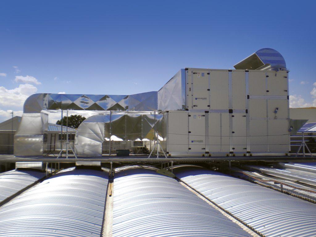 Impianti di climatizzazione nel settore industriale, terziario e civile
